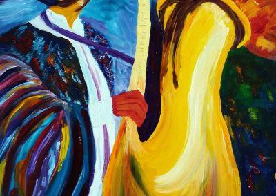 saxophoniste 60 x 73