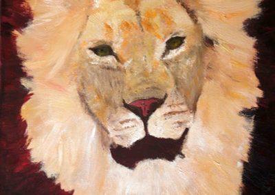 lion couleurs naturelles  38 x 45