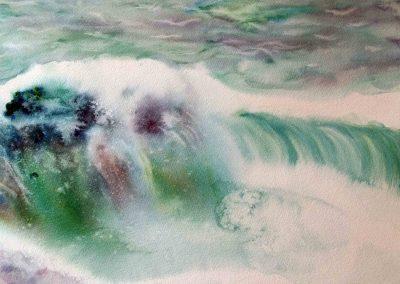 paysage marin vagues 50 x 40