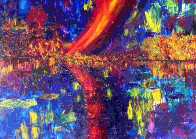 couleurs sur la ville 70 x 90