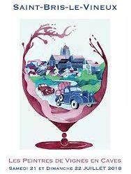les peintres de vignes en caves Saint Bris