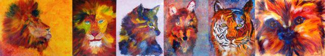 mes animaux colorés au salon d'automne des 4'ARTS