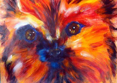 chien coloré 61 x 50