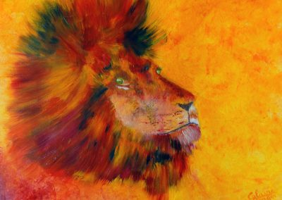 lion profil colore 61 x 50