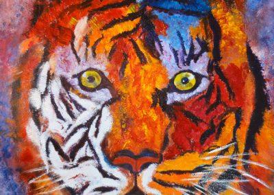 tigre coloré  46 x 55
