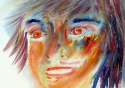 aquarelle claire bauger portrait jeune fille