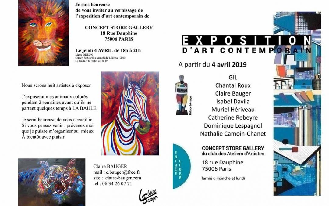 Claire Bauger INVITATION VERNISSAGE D'ART CONTEMPORAIN A PARIS